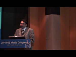 Dr Abhinnet at the IFOS world Congress ,Seoul ,South Korea